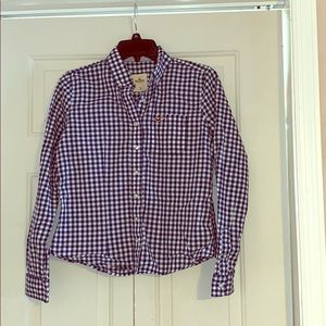 Hollister checkered button up size medium